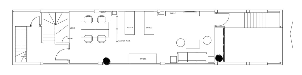 ホーチミンオフィス 平面図