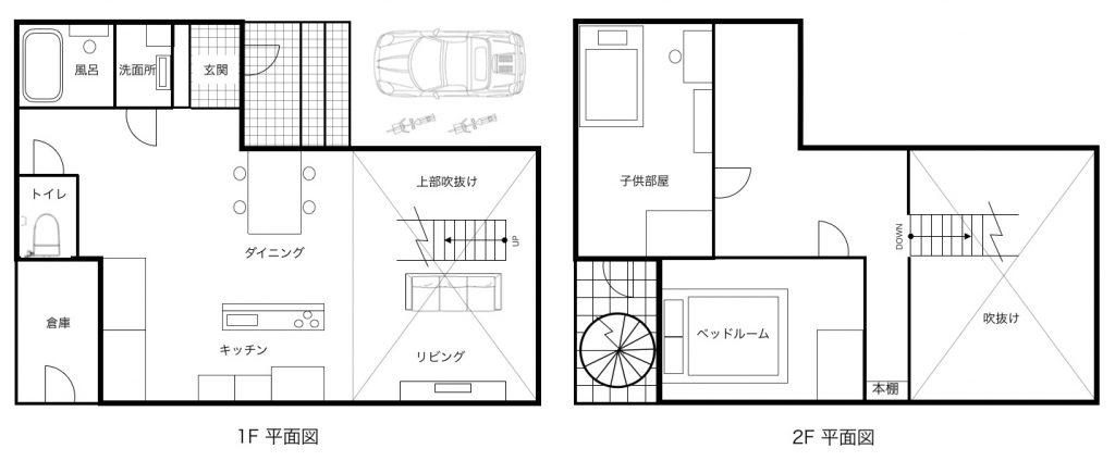 リビングの中央に階段を設置した場合